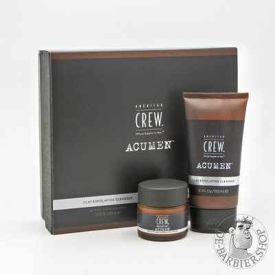 "American Crew AcuMen Cadeau Box ""Clay Exfoliating Cleanser & Recharging Hydrating Cream"""